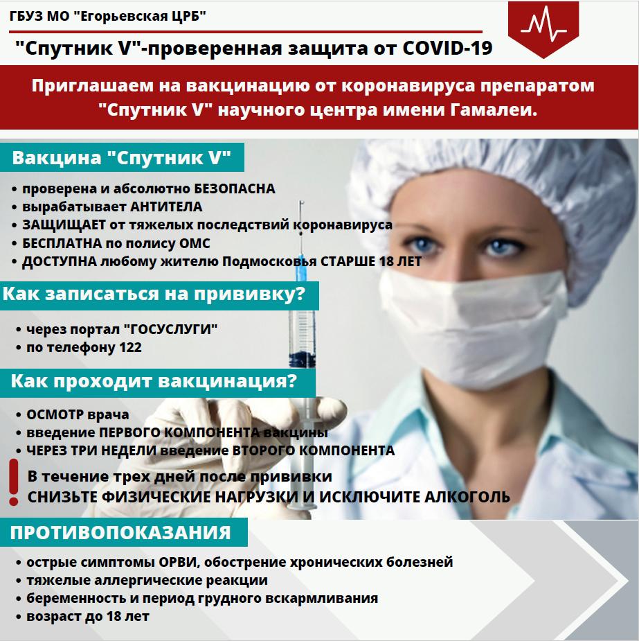 «Спутник V» проверенная защита от COVID-19